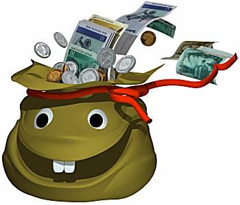 geld witzig verpacken
